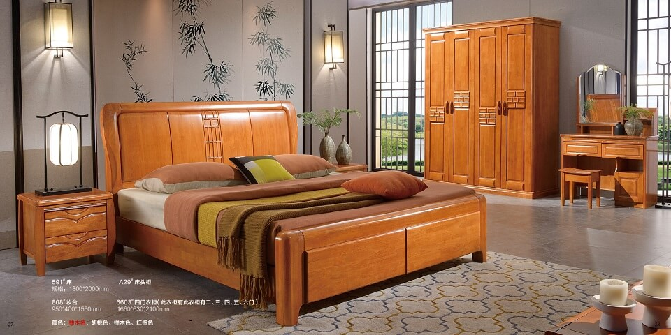 橡木中式卧室套房优德88官方网APP01