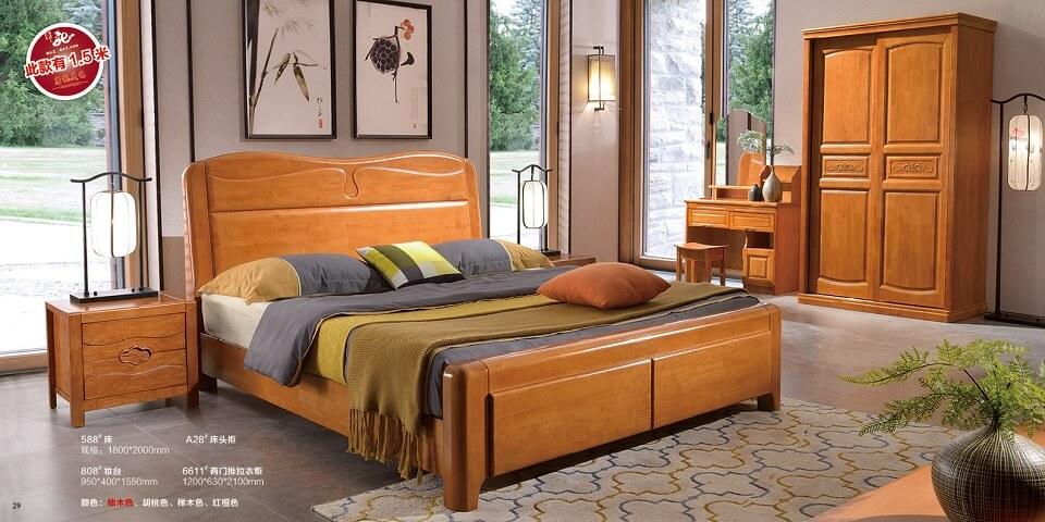 橡木中式卧室套房优德88官方网APP02